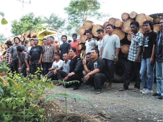 tpl 1 Gabungan Elemen Rakyat Tapsel Tangkap Truck Kayu Illegal PT. TPL Dishut Membungkam DPRD Ciut