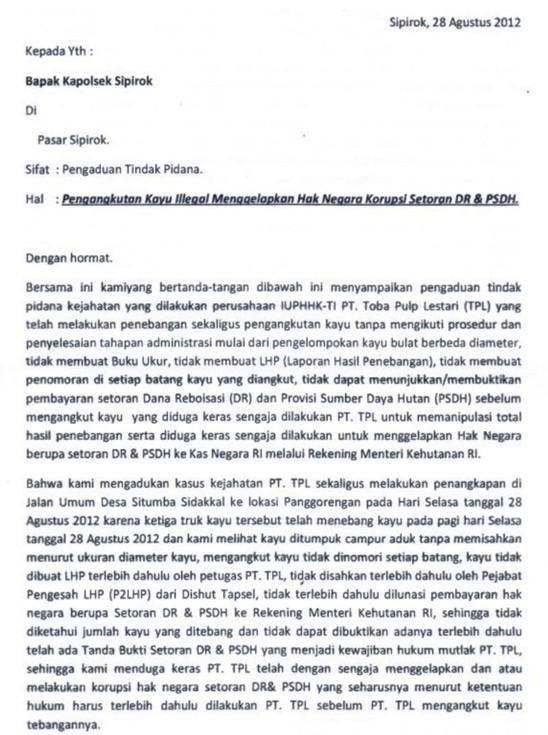Gabungan Elemen Rakyat Tapsel Tangkap Truck Kayu Illegal PT. TPL