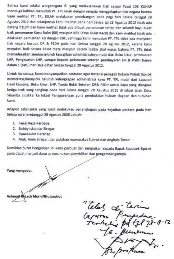 tpl 5 Gabungan Elemen Rakyat Tapsel Tangkap Truck Kayu Illegal PT. TPL Dishut Membungkam DPRD Ciut