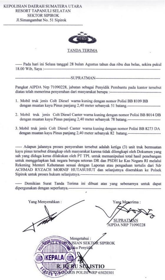 tpl 6 Gabungan Elemen Rakyat Tapsel Tangkap Truck Kayu Illegal PT. TPL Dishut Membungkam DPRD Ciut