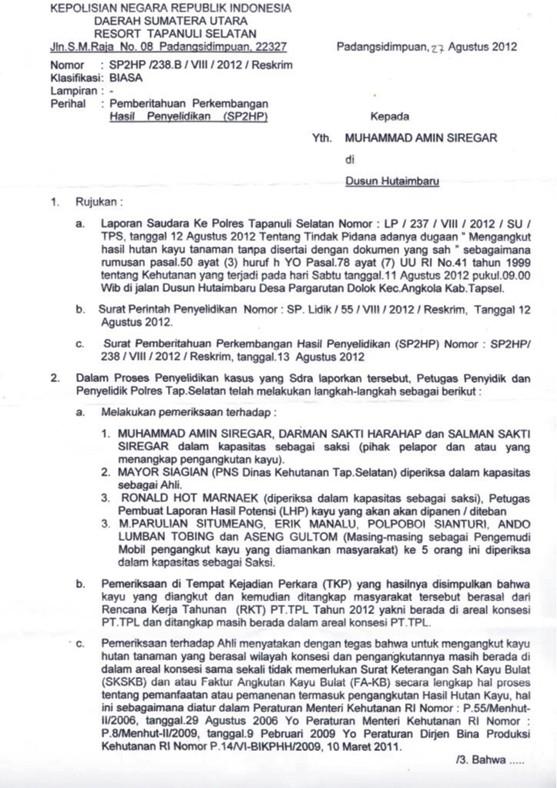 alarm tpl 5 PT. TPL Manipulasi Penebangan dan Korupsi Setoran DR & PSDH