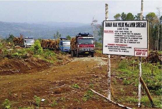 blokade 11 Ribuan Meter Kubik Kayu PT. TPL Berkasus Dishut dan Polres Diam