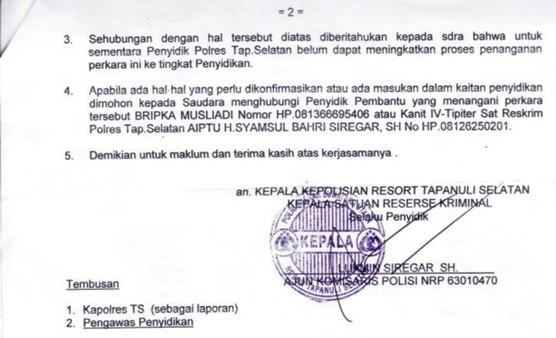 pending 3 Polres Tapsel Pending Proses Hukum Pengaduan Rakyat : Kejahatan Manipulasi Penebangan dan Indikasi Korupsi PT. TPL Berlanjut