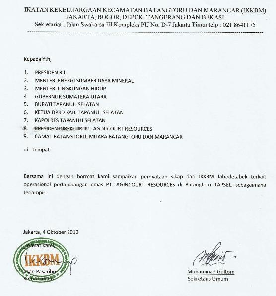 tambang2 Pernyataan Sikap IKKBM Jabodetabek Tentang Perkembangan Situasi Terkait Operasi Perusahaan Tambang Emas Di Batang Toru Tapsel