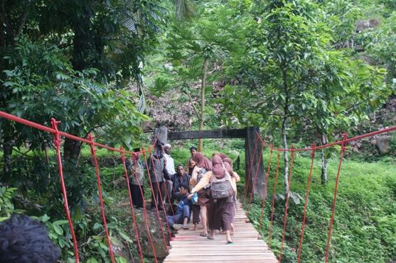 dsc07712 NNBS Sumut Rehab Jembatan Gantung di Sipirok