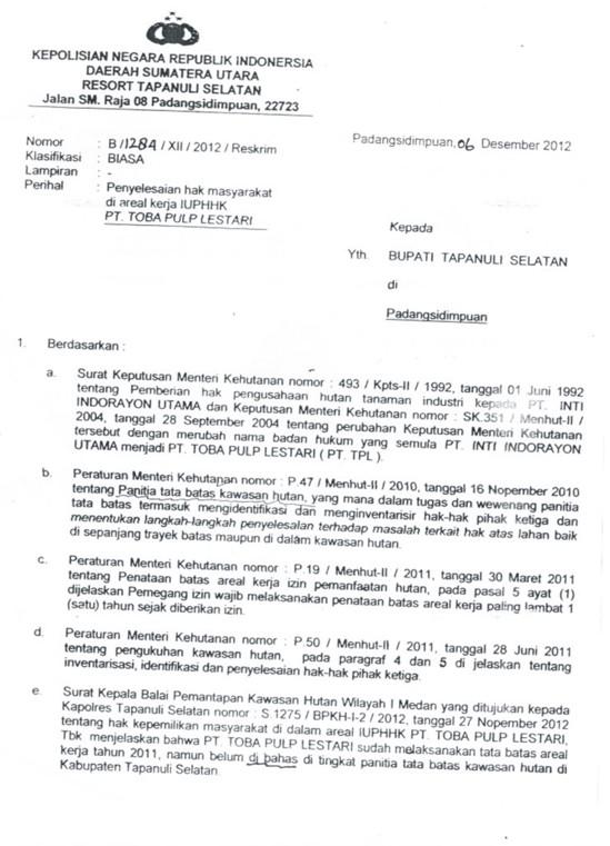 %name Proses Hukum Blokade Ribuan M3 Kayu Curian PT. Toba Pulp Lestari Masih Mengambang