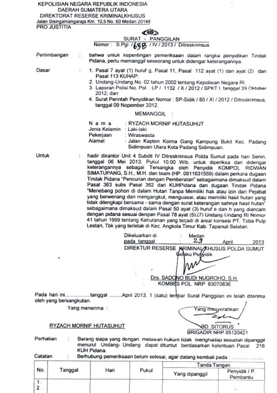 graphic4 Tunggangi Poldasu untuk Ingkari Hak Tanah Rakyat dalam areal Konsesi : PT. Toba Pulp Lestari Kangkangi Surat Bupati Tapsel